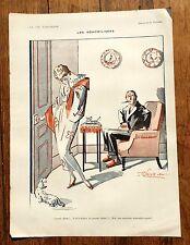 1920s La Vie Parisienne French Magazine Page-- Les Demobilisees