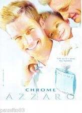PUBLICITE ADVERTISING 125  2002  AZZARO   eau de toilette homme CHROME