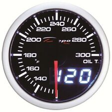 60mm Depo Racing Digital Oil temperature gauge White Red Smoked WA6047LED