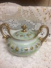 Sugar Bowl Antique Lemoges T V Tressemann Vogt daisy chain