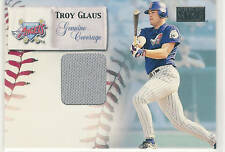 2000 SKYBOX GENUINE COVERAGE TROY GLAUS GAME JERSEY