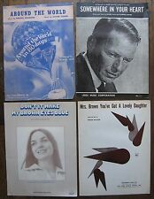 4 Sheet Music - Frank Sinatra, Crystal Gayle, Around The World in the 80 Days