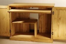 Hampton waxed pine furniture hideaway PC computer desk