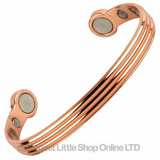 Shiny Copper MAGNETIC BRACELET / SUPER STRONG MAGNETS Bio Magnet NdFeB Neodymium