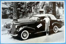 "1936 Pontiac 4 Door Convertible Top Up 12 X 18"" Black & White Picture *"