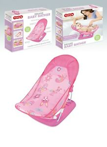 Baby Infant Bath Seat & Support Foldable Chair 3 Positions Bather Cradle Pink UK