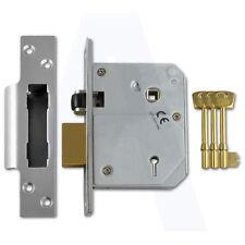 """Unione C. 3K BS 5 LEVA PORTA sashlock 80mm / 3 """"IN SATIN CHROME inserite a differire"""