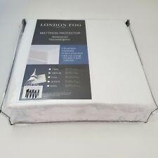 London Fog Mattress Protector Twin XL Fitted Waterproof Hypoallergenic Noiseless
