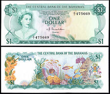 BAHAMAS 1 DOLLAR DONALDSON (P35a) L. 1974 QEII AUNC
