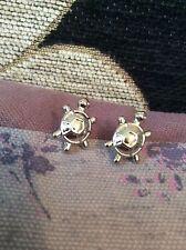 FREE GIFT BAG Silver Plated Cute Turtle Tortoise Animal Stud Earrings Jewellery