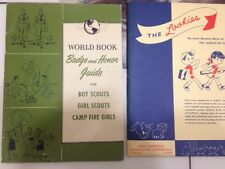 Vtg 1954 World Book Badge Honor Guide Boy Scouts Girl Scout1958 The Lookies Jan