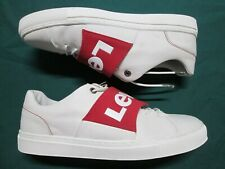 LEVI'S Mens BATWING White Leather Low-Top Sneakers 229523-700-51 Size 11.5 US