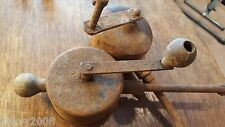 Two Vintage Rotary hand Cranked Valve Tools Display Rustic Steampunk