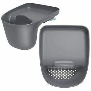 MR.SIGA Sink Caddy with Suction Cup, Sponge Holder for Kitchen, Pack of 2, Grey