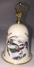 Collectible Noel Christmas Bell Porcelain by Gorham Fine China 1981