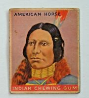 Vtg. 1933 Goudey Indian Chewing Gum AMERICAN HORSE No. 43 Card 7225