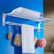Modern Double Wall Mounted Bathroom Bath Towel Rails Holder Storage Rack SH U9q9