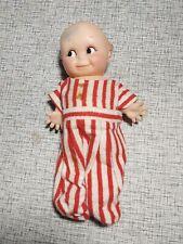 Cameo Kewpie Sleeper squeaky doll with stripped pajamas