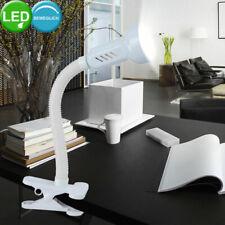 LED Pinza Luz Trabajo Habitación Esribir Lámpara de Mesa Lectura Reflector Flexo