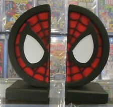 SPIDER-MAN LOGO COLLECTIBLE BOOKENDS NEW IN BOX NIB