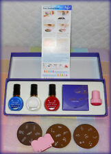 KONAD STAMPING NAIL 9 PC. ART KIT IN BOX WITH INSTRUCTIONS