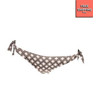 FISICO CRISTINA FERRARI Bikini Bottom Size XS Reversible Ogee Pattern Sides Tie