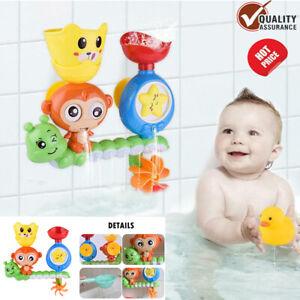 Water Play Game Bath Toy Set for Children Kids Wall Sunction Shower Sprinkler