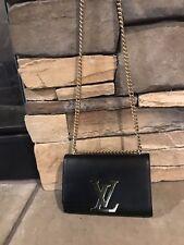 Louis Vuitton Chain Louise MM Bag Black