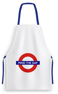 "London underground 100% Coton Tablier Avec "" Mind The Gap "" Logo 82cm x 68cm ("