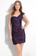 NEW VERA WANG Lavender Stretch Satin One Shoulder Sheath DRESS SIZE 6 $395