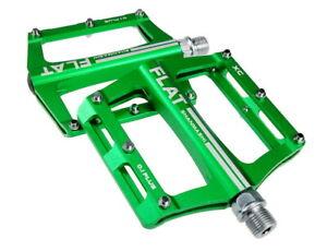 SMS0.1plus Green Aluminum XC AM MTB Road Bike Bearing Pedals flat Pedal 100*98