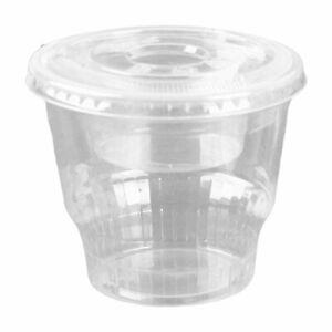 12oz Clear Plastic Dessert Cups with 4oz Parfait Insert & Lids, 3-piece (100...
