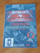 METALLICA - SIX FEET DOWN UNDER - Laminated Promotional Poster