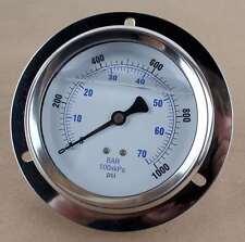 "New PIC Gauges 204L-404M-LT PIC Pressure Gauge 4"" 0-1000psi"