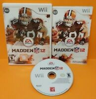 Madden 12 NFL Football Nintendo Wii Wii U Game Tested Working - 1-4 player game