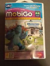 Vtech Disney Pixar Monsters University Mobigo Touch Learning System Game New