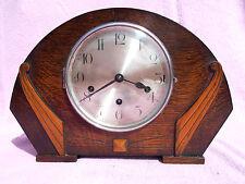 Antiguo Hecho De Roble Entubado alemán? 8 día Reloj de Westminster Timbre Wind Up + llave gwo