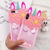 3D Cartoon Unicorn Case For iPhone 11 Pro Max XR 8 7 6 Plus 5 Samsung S10 A30 20