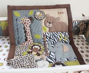 Oeko-Tex Standard 100 Crib Bumper and Blanket Jungle
