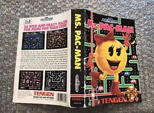 Ms. Pac-Man **ORIGINAL CASE/BOX ART ONLY** Sega Genesis - HEAVY WEAR