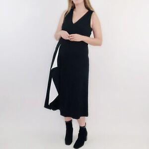 NWT Worth New York Black and White Ruffle Sleeveless Midi Dress 8 Women's