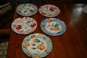 Set of 5 Princess House Fruit on the Vine Plates