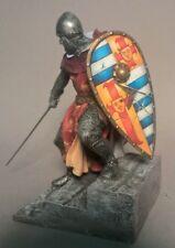 St. Petersburg. Amber. Foot Knight w/Sword & Shield, 90 mm.