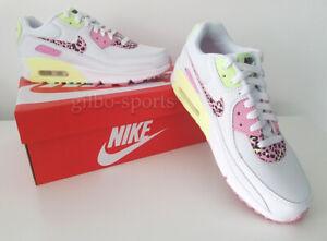 Nike Air Max 90 GS White Pink Rise Yellow Größe 39 weiss neon gelb DA4675 100