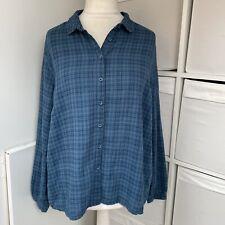 Ionen Cornwall blau karierte Island Hopping Shirt Größe 18 Langarm