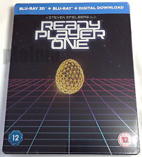 READY PLAYER ONE Brand New 3D (and 2D) Blu-Ray STEELBOOK Region-Free UK Import 1