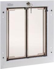 PlexiDor Performance Pet Doors for Dogs 7 Cats - Door Mount Dog Door & Lock Med.