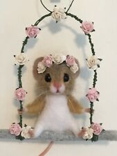 Needle Felted Mouse 'Lucinda' Animal Doll Handmade Mice Teddy Ooak By Suzanne 🌸
