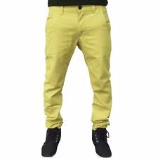 New Mens Slim Fit Chino Kushiro City Trousers Causal Designer Cotton Jean Pants
