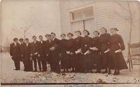 D35/ Westbrook Minnesota Mn Photo RPPC Postcard 1910 Confirmation Class Church
